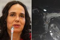 Děsivá nehoda europoslankyně: Z jejího auta zbyl zdemolovaný vrak!