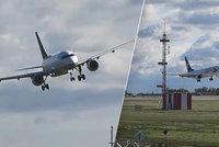 VIDEO: Letadla mají kvůli větru problémy! Na přistání v Praze čekala i hodinu