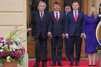 "Zpoždění Čaputové i milý ""János a Andrzej"". Zeman zahájil summit V4, prezidentku pozlobil vítr"