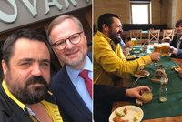 """Spor o """"zm*da"""" Ondráčka: Pavel Novotný měl u piva radost z podpory šéfa ODS Fialy"""