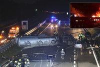 Andělé z D1 tahali lidi z hořících aut: Dramatické scény a hrdinství po nehodě cisterny