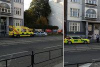 Střelba v centru Brna! Mrtvá žena a postřelený muž u bývalé banky!