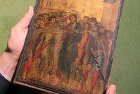 ObrazJežíše vedle mrzoutů visel v bytě. Cimabueho dílo vyneslo přes 600 milionů