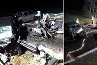 Tragédie na Znojemsku: Čtyři mrtví po čelním střetu! Pro dítě letěl vrtulník