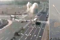 Výbuch bomby na dálnici za plného provozu: Izrael zasypaly rakety z Pásma Gazy