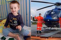 Honzík se vážně zranil, dech mu zajišťovala ventilace: Přežil! Dojatá rodina děkuje za pomoc