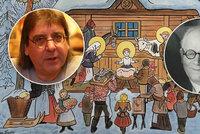 """Josef Lada: """"Rybu nejím, betlém nestavím."""" Vánoce v rodině slavného malíře jsou """"rockové"""""""