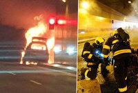 Zavřená Blanka! V Dejvickém tunelu hořelo auto