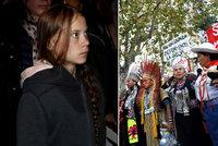 Greta se v Madridu zapojila do pochodu za klima, policie ji ale vyhnala pryč