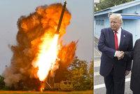 """Kim tlačí na Trumpa: Provedli jsme """"velice významný"""" test raket. Jednání na bodu mrazu"""