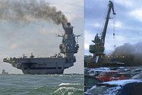 Jediná ruská letadlová loď je v plamenech: Jeden mrtvý a několik zraněných. Po kapitánovi se slehla zem
