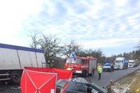 Krutá nehoda na Táborsku: Řidič osobáku nepřežil děsivou čelní srážku!