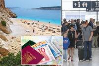Češi loni nejčastěji vyrazili na dovolenou v Řecku, Egyptě a Turecku, uvedla agentura