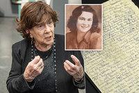 Sheindi (90) přežila Osvětim: Tajný deník z továrny na smrt! Chci se umýt, na záchod to nešlo