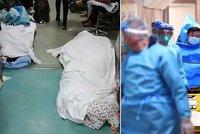 Těla se povalují všude. Sestra popsala hrůzu v čínské nemocnici, lidé kolabují v čekárnách