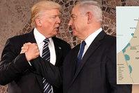 Palestina po boku Izraele a nedělitelný Jeruzalém. Trump sklidil za mírový plán bouři