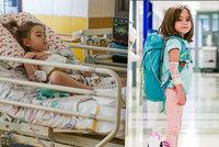 Holčička v Motole podstoupila transplantaci: Adélka (5) si »srdce« nosila v batohu