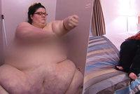 275kilová baculka prosí o pomoc při hubnutí. Operaci jí lékaři zamítl, když přibrala