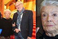 Filmová Lída Baarová Procházková (93) nemůže chodit: Otevřená zlomenina!