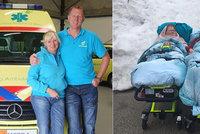 Umírající pár viděl naposledy sníh: Dojemné přání mu splnil dobrotivý záchranář s manželkou