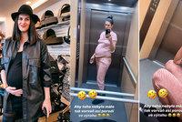 Chvíle hrůzy těhotné Vignerové: Zasekla se ve výtahu!