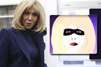 Brigitte Macronová (66) jako superhrdinka. První dáma se stala hvězdou klipu oblíbeného zpěváka