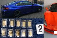 Miliardová razie, jakou Praha neviděla: Zabavená luxusní auta, zlaté cihly, šperky a balíky peněz! Podvodníci obrali tisíce lidí