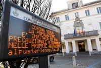 Koronavirus ONLINE: Italové zavřeli postižená města a ruší fotbal, v pohotovosti je armáda