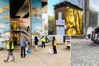 Pražské městské části v boji proti koronaviru: Rozvážejí obědy a vyrábějí vlastní sterilizátory