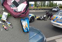 VIDEO: Zdrogovaný motorkář ujížděl pražským policistům: Pod vlivem neřídil poprvé