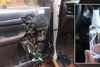 Muži explodovala dezinfekce na ruce v autě: Hasiči varují řidiče!