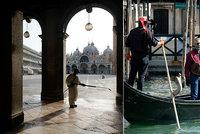 """Tvrdá rána pro Benátky. Ráj turistů zeje prázdnotou. """"Bude to boj o přežití,""""tvrdí místní"""