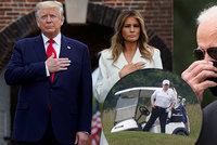 Trumpová ve svátek ukázala kabát za 88 tisíc, prezident si užíval golf. A co sok Biden?