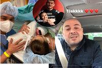 Otec (43) Bagárové dostal vnučku k narozeninám! Emotivní reakce mladého dědečka