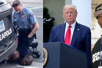 """Rodina oplakává smrt """"něžného obra"""". Smrt zatýkaného černocha prověří FBI, nařídil Trump"""
