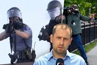 """Při protestech v Minneapolis zasáhla policie i štáb ČT: """"Byli jsme na špatném místě"""""""