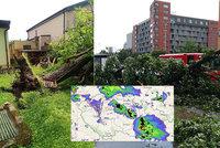Bouřky v Česku udeřily, lijáky zatopily sklepy a padaly kroupy. Sledujte radar Blesku