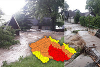 Extrémně silné bouřky v ČR ONLINE: Zatopené domy i evakuace seniorů. Sledujte radar Blesku