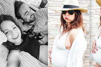 Těhotná Veronika Arichteva šla do plavek! Poprvé v životě v nich má prsa