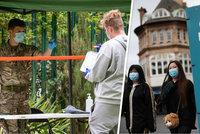 Koronavirus ONLINE: 202 nových případů v ČR. A do karantény míří velké město v Anglii