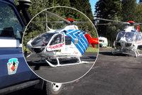 Chlapec nezvládl na kole zatáčku a naboural do svodidel: Vážně se zranil, letěl pro něj vrtulník