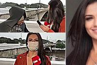 Krásnou reportérku oloupil bezdomovec v přímém přenosu: Vytáhl na ni nůž!