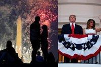Trump o Dni nezávislosti zmínil porážku marxistů i potírání viru. A Kolumbus šel k zemi