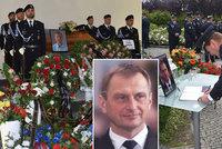 Smutek policistů zcelé republiky: VBílovci se loučili soblíbeným náměstkem Daňkem (†55)