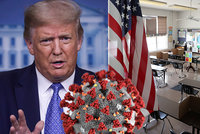 Trump tlačí na otevření škol a chce tam poslat syna Barrona i vnoučata. Lidé jsou obezřetní