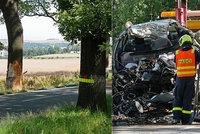 Mladý řidič (†23) na Bruntálsku najel do stromu. Na místě zemřel