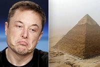 Pyramidy mimozemšťané postavili, tvrdí Elon Musk. Egypt: Uvnitř se skrývá důkaz opaku