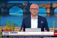 Utrpení moderátora Karla Voříška: Oslepl v přímém přenosu!