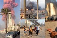 Mohutná exploze v Bejrútu: Nejméně 50 mrtvých a 2700 zraněných. Premiér prosí o pomoc