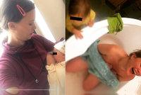 Kristýna Leichtová po domácím porodu do vany: Sdílela další intimní fotku a oslavuje kojení
